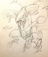 Sketch - Legendary Dragon of White by slifertheskydragon