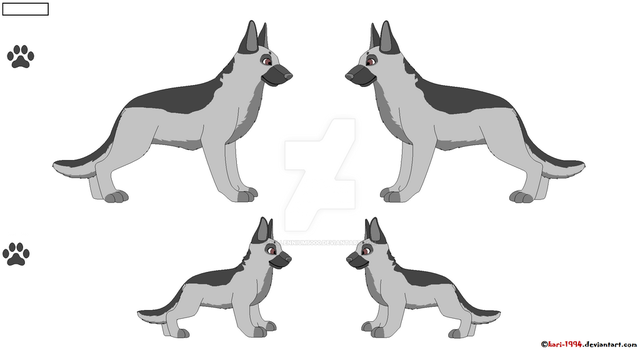 German Shepard Reference Page Base by millennium5000