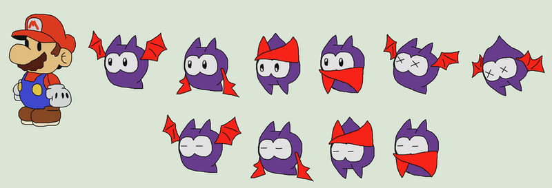Fang (Paper Mario style) by ericgl1996