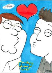 Family Guy colored sketch card - 79 by KBustAMove