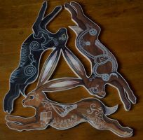 Triple Hare by Sidhe-Etain
