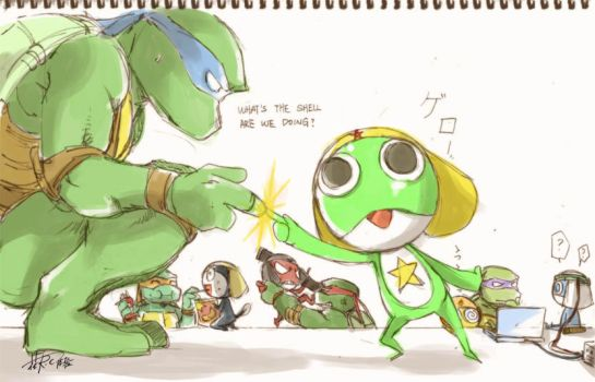 TMNT and KERORO Gunso Team by Rcaptain