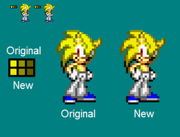 Shane Colour Palette Comparison by SonicDBZFan4125