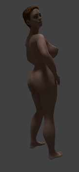 Nude Test Girl by huionartist