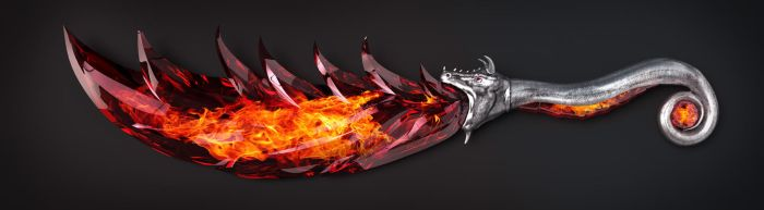 DragonFlame ceremonial knife by Nikola3D