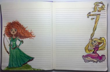 Tangled Brave My wife's Notebook by peritto