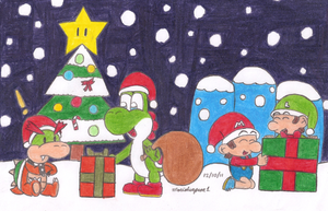 Christmas at Yoshi's Island by MarioSimpson1