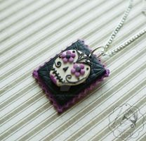 Sugar Skull Stamp by colourful-blossom