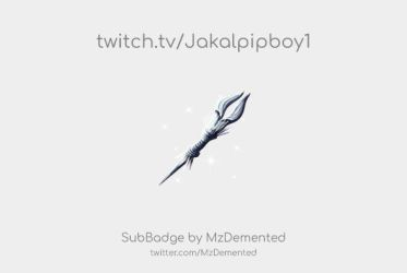 Twitch Sub Badge for Jakalpipboy1 by MzDemented