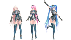 MMD Model Pack: TDA Bless Online IA, Luka and Miku by K-Manoc1