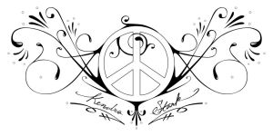 Peace and Love tattoo by SamHall