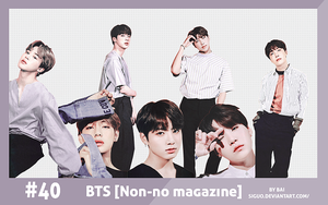 #40 BTS [Non-no magazine] RENDER PACK by Bai by Siguo