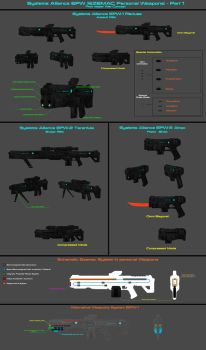 Systems Alliance Ezemac Personal Weapons - Part 1 by nach77