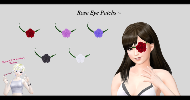 [MMD] TERA Online - Rose Eye Patch DL ~ by o-DSV-o
