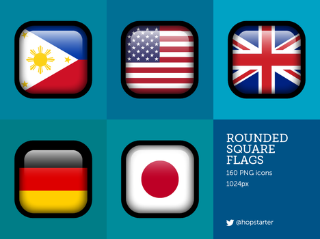 Square Flags by hopstarter