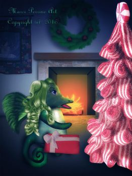 Christmas Dragon by marphilhearts