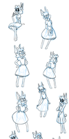 Beatrice Doodles by The-Purple-Gremlin