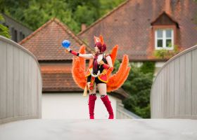 Pulse rise or stop? - Ahri | League of Legends by MYSD-Cosplay