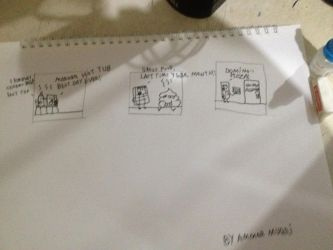 Object Adventure Storyboard Drawing by ammarmuqri
