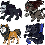 Adoptables for WereMorta by armundy