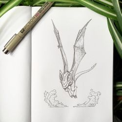 Inktober 7: Noivern by Alithographica