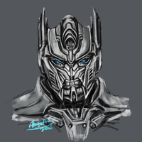 Optimus smiling by Akyuatron