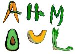 editorial illustration - vegetable letters by ungoth