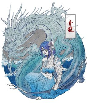 [Council Contest] Aoi Ryuugoku (Seiryuu-jin) by 21tan