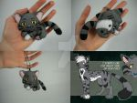Midnight the Flat Keychain by WhittyKitty