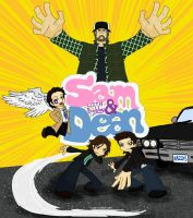 Sam and Dean With Bobby by Wazy