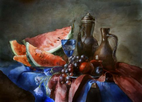 Still life by Flame-of-inspiration
