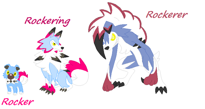 Rocker/Rockering/Rockerer Under's Rockruff/Lycan by UndertaleAUgaming13
