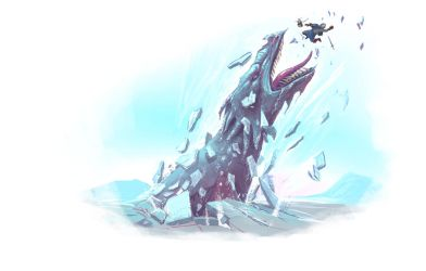 Aborea Ice Dragon Monster by raben-aas