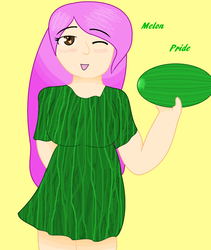 Ayane has Melon Pride by wolfbecca