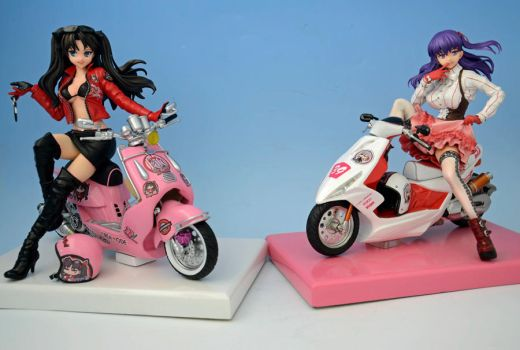 Rin and Sakura Scooters by resinmonkey