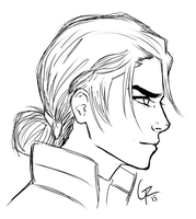 Kuvira Sketch by GiannaRoseH