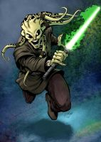 Kit Fisto sketch515 color fun by SpicerColor