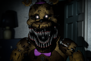 Fredbear is in your room by GameBennie