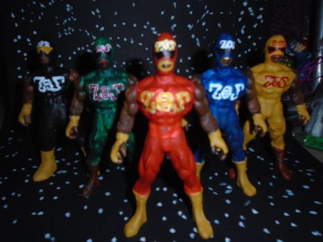 ZOZ FORCE FOUR ACTION FIGURES RETURNS by ztenzila
