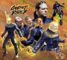Johnny Blaze Ghost Rider live by MarOmega