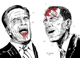 Zomney and Zombama by Dragonbaze