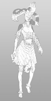 Meat Dress Lady by Di-Dorval