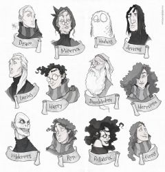 Faces - Harry Potter by TeemuJuhani
