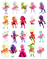 Chibi Opals Paypal Adopts (CLOSED) by Gaartes