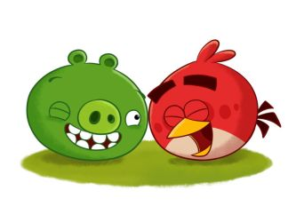Love Angry Birds with Pig by jgu112
