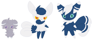 Espurr and Meowstic Base