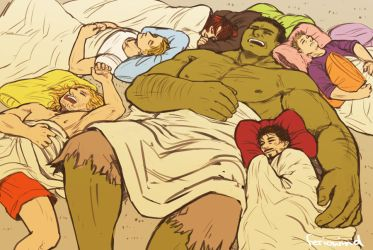 AVENGERS - sleepover by FerioWind
