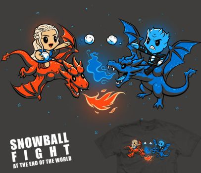 Snowball Fight at the End of the World - tee by InfinityWave
