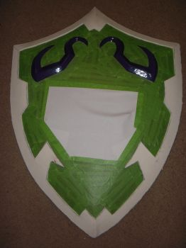 Hylian shield - masked and ready for the spraying by mnementh2000