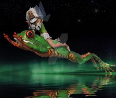 Ride The Frog by Mysticartdesign